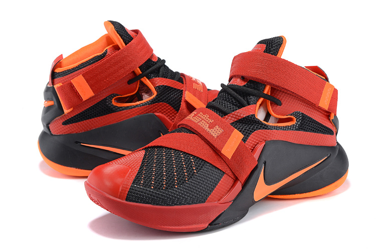 Nike LeBron Solider 9 Black Red Basketball Shoes
