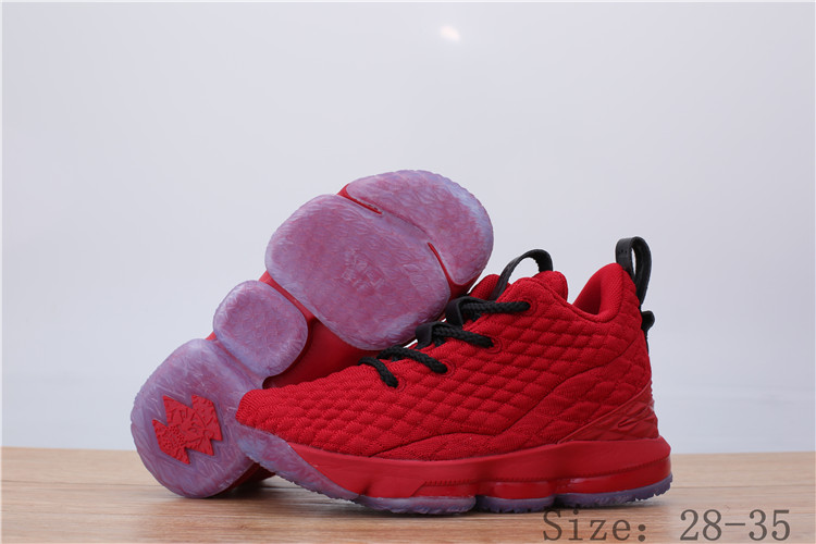 Nike Lebron James 15 Red Black Shoes For Kids
