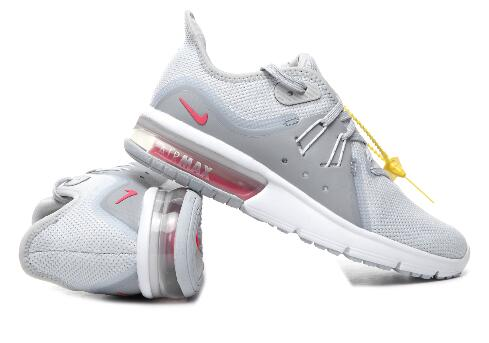 Nike Max Sequent 3 Grey Red For Women