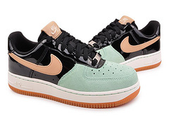 Nike Women Air Force 1 Low Black Blue Gold Sneaker