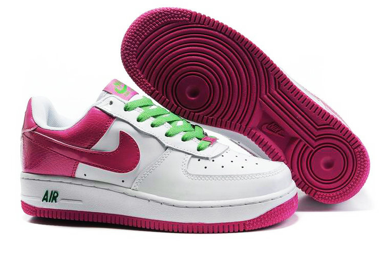 Nike Women Air Force 1 Low White Purple Sneaker
