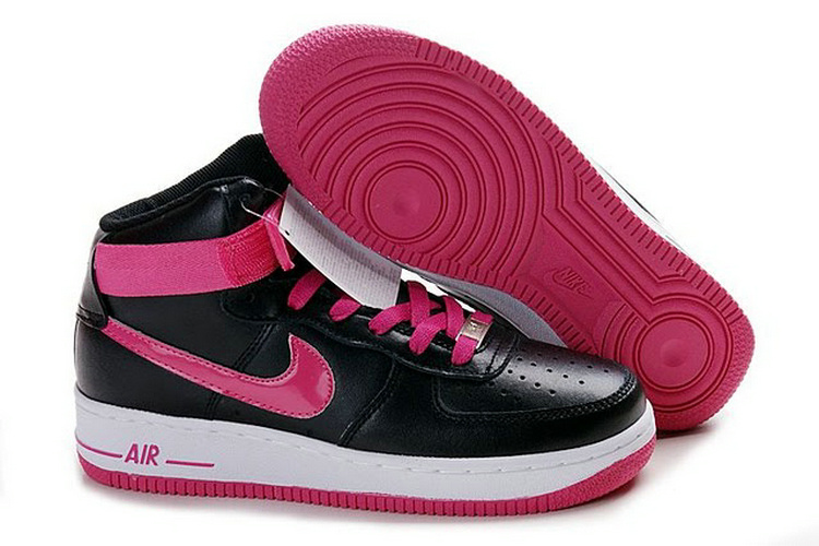 Nike Women Air Force Mid Black Pink Sneaker