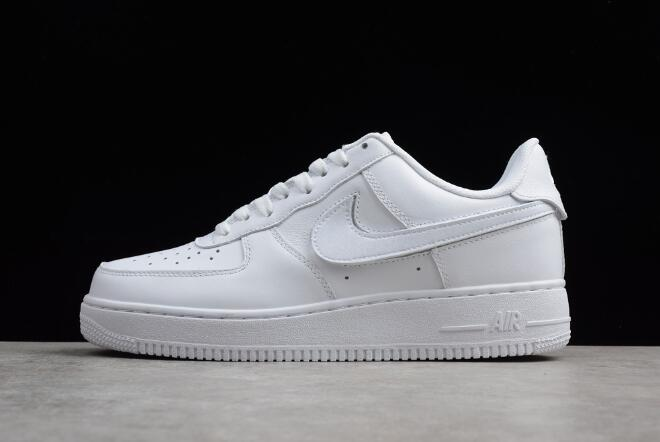 Nike Air Force 1 QS Velcro Swoosh Pack White