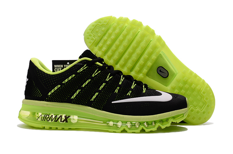 Air Max 2016 2 Black Fluorscent Green Shoes For Women