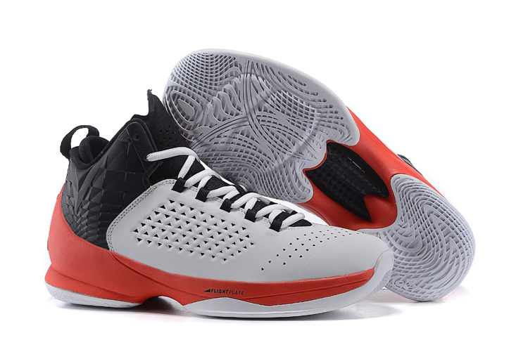 Jordan Anthony 11 Grey Red Black Shoes