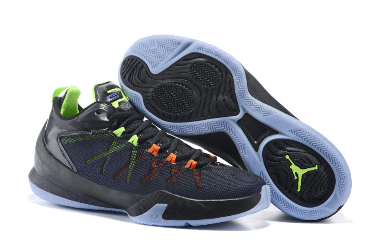 5069784c98d Jordan CP3 8 Playoffs Black Blue Fluorscent Shoes