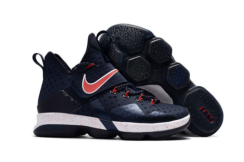 Nike Lebron 14 Dark Blue Red Shoes