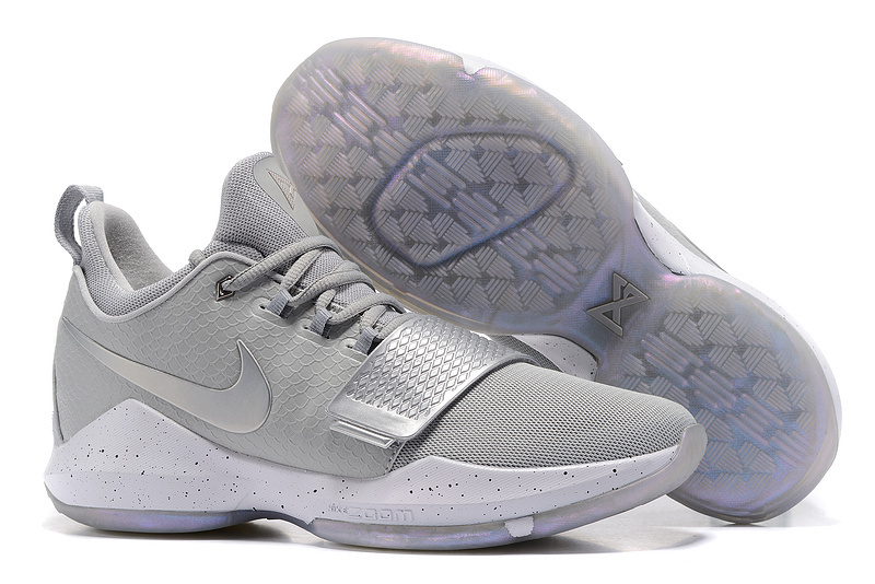 Nike Paul George 1 Sliver Grey Shoes