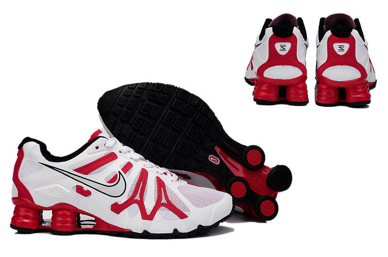 Shox Turbo+ 13 White Red Shoes
