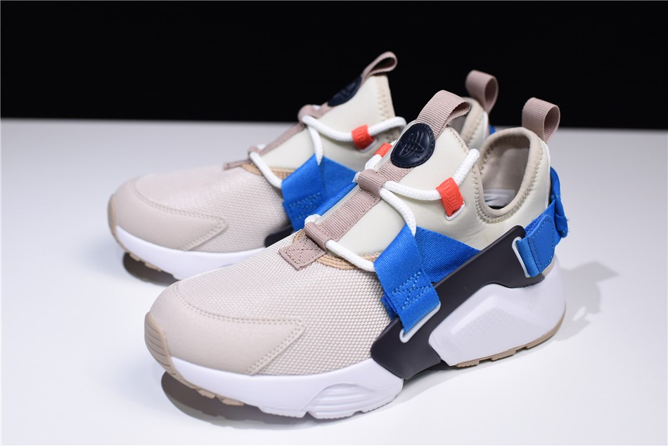 Nike Air Huarache City Low Cream Desert Sand Blue Nebula