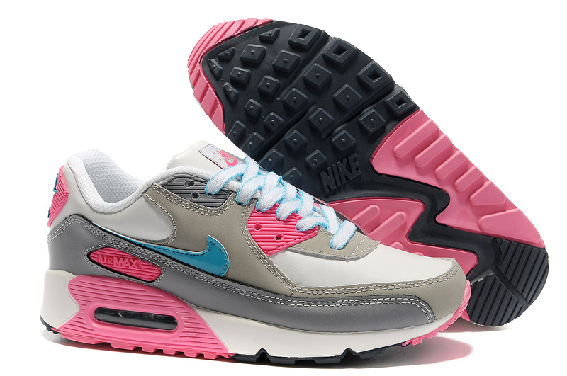 Nike Women Air Max 90 Pink Grey Running Shoes