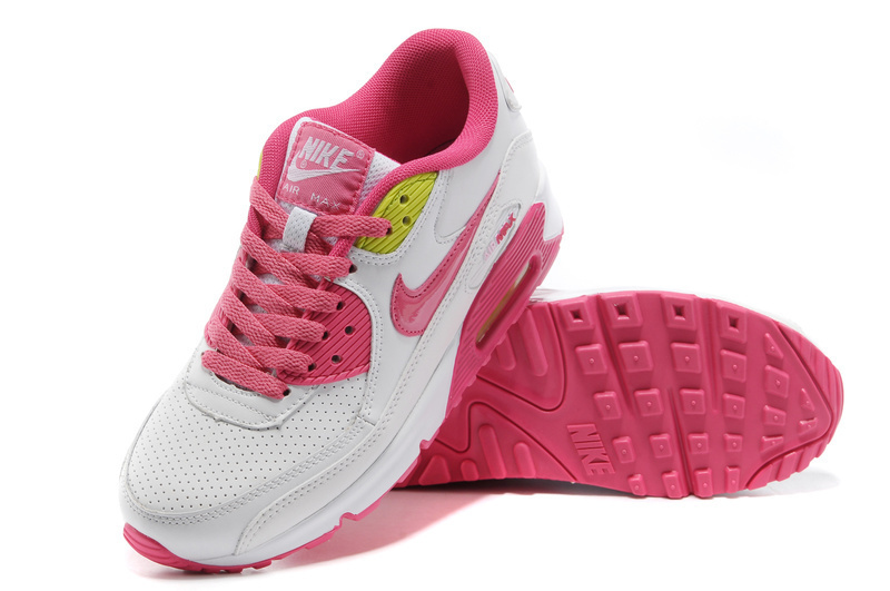 Nike Women Air Max 90 Pink White Running Shoes