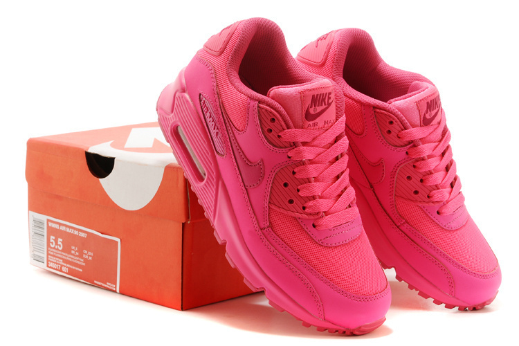 Nike Women Air Max 90 Red Running Shoes