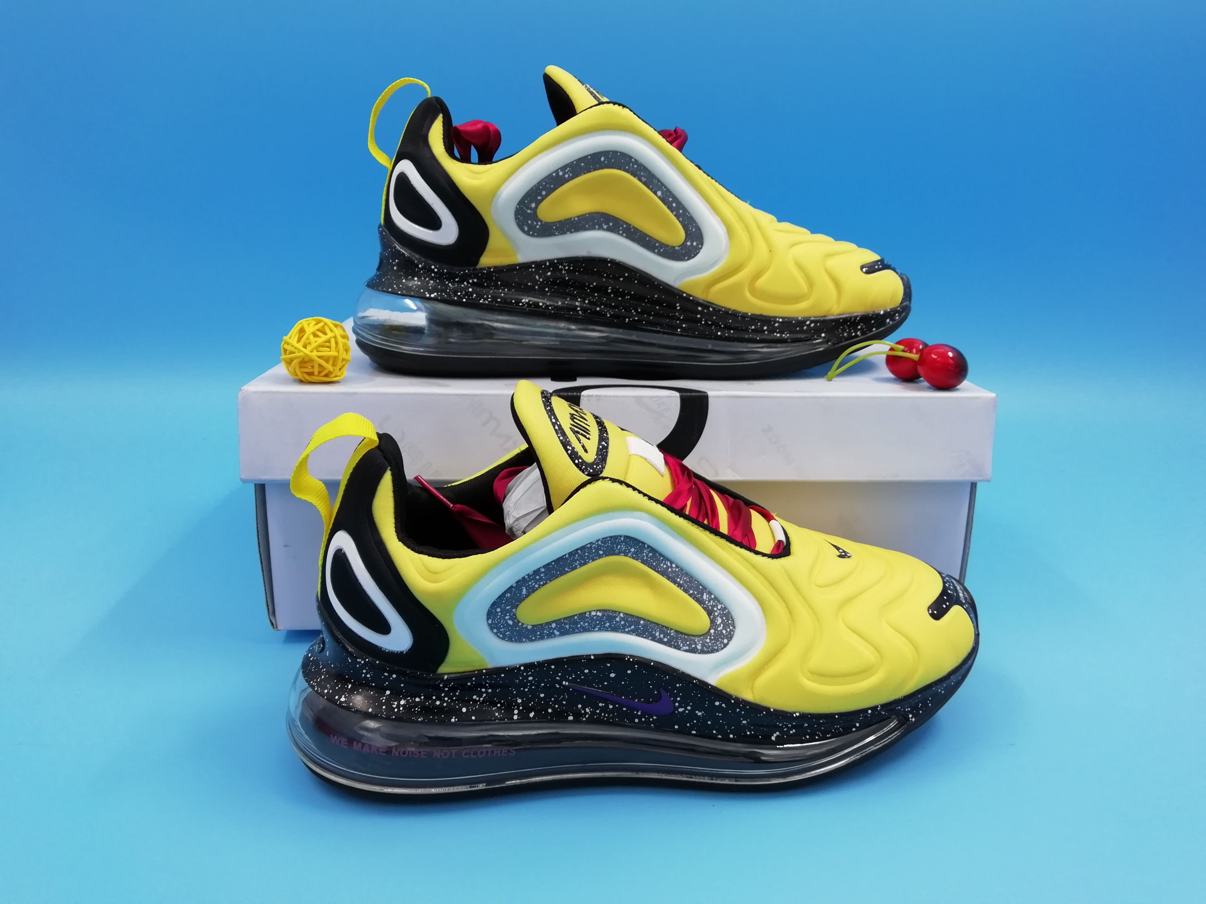 Off-white Nike Air Max 720 Yellow Black Women Shoes