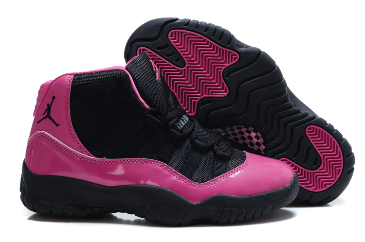 detailed look b8ca5 0f230 Old Style Of Women Air Jordan 11 Black Pink Shoes