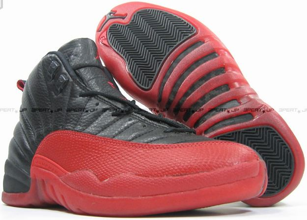 Original Michael Jordan 12 Playoffs Black Varsity Red Shoes