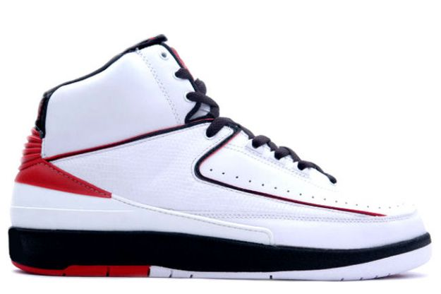 Original Michael Jordan 2 Retro White Varsity Red Black Shoes