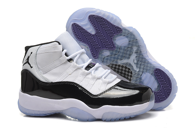 Original Womens Air Jordan 11 Concard White Black Shoes