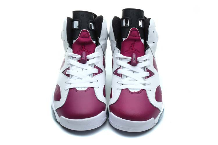 huge selection of 286f0 730b4 Original Womens Air Jordan 6 White Carmine Shoes