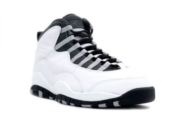 Popular Air Jordan 10 OG Steels White Black Light Steel Grey Shoes