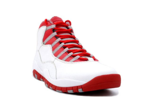 Popular Air Jordan 10 Retro White Varsity Red Light Steel Grey Shoes