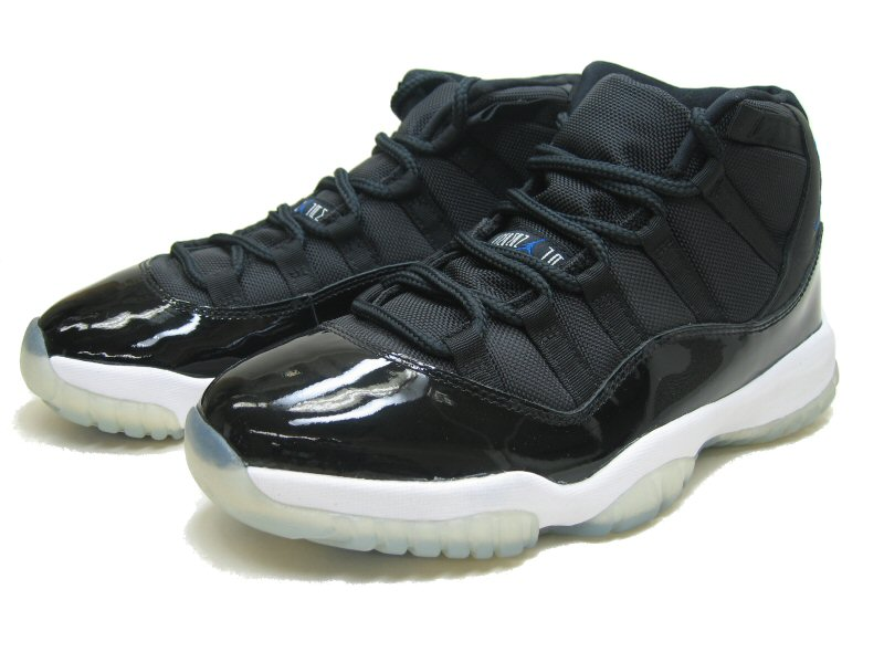 Popular Air Jordan 11 Retro Space James Black Varsity Royal White Shoes
