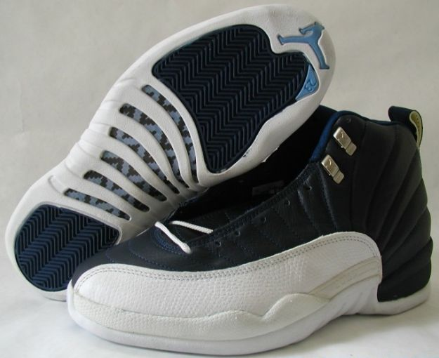 Popular Air Jordan 12 OG Obsidian White French Blue Shoes