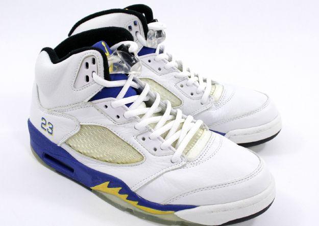 more photos fdf6c a8dbc Popular Air Jordan 5 Retro 3 4 High Laney White Varsity Royal Varsity Maize  Shoes