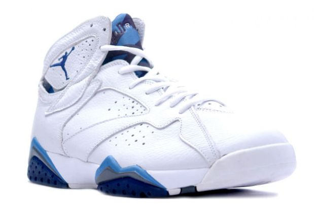 Popular Air Jordan 7 Retro White French Blue Flint Grey Shoes