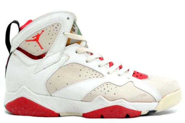 Popular Classic Air Jordan 7 og Hare White Light Silver True Red Shoes