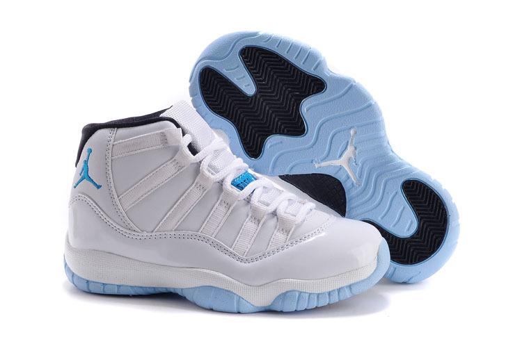 reputable site 2a81e 52ab7 Authentic Popular Kids Air Jordan 11 Legend White Blue Shoes ...