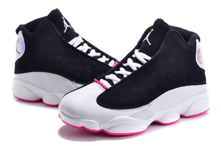 best loved 400b0 aa804 Authentic Popular Kids Air Jordan 13 GS Black White Pink ...