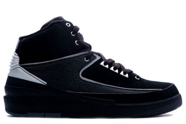 Popular Michale Jordan 2 Retro Black Chrome Silver Shoes