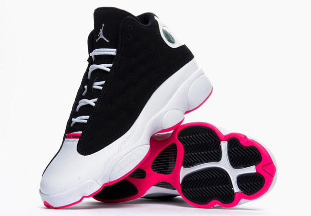 Authentic Popular Womens Air Jordan 13 GS Black Hyper Pink Shoes For ... 92eac01c5