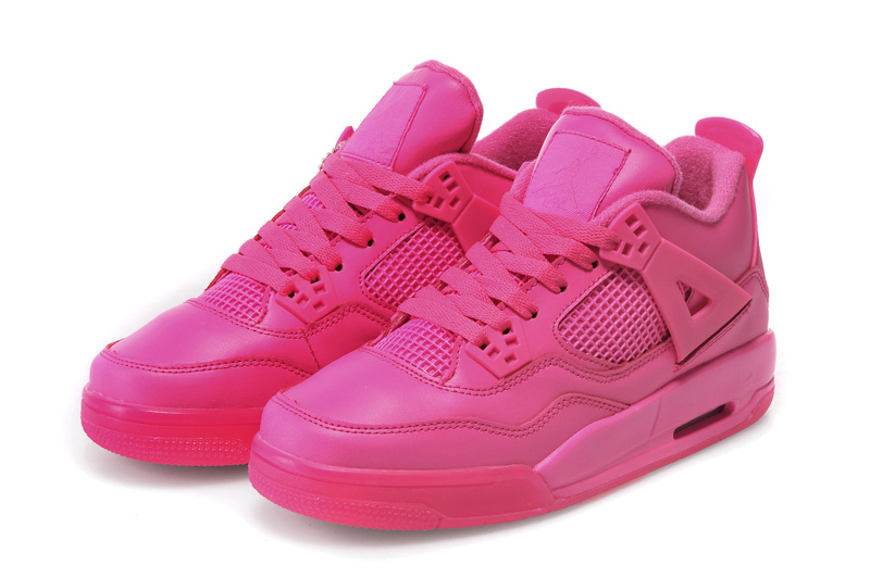 Popular Womens Air Jordan 4 Retro All Pink Shoes