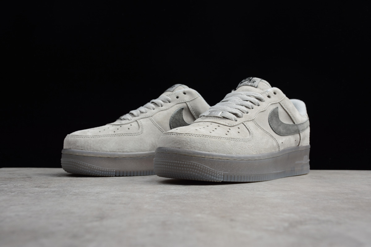 Reigning Champ x Nike Air Force 1 Low LV8 Suede Light Grey Black