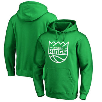 Sacramento Kings Fanatics Branded St. Patrick's Day White Logo Pullover Hoodie - Kelly Green