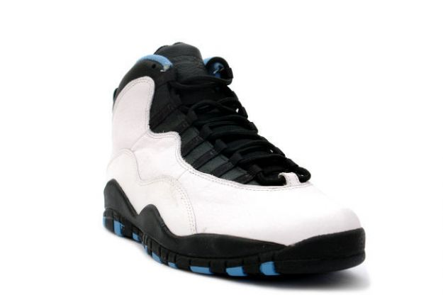 Special Air Jordan 10 og Charlotte Hornets White Black Dark Powder Blue Shoes