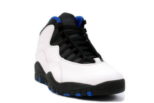 Special Edition Air Jordan 10 og New York Knicks White Black Royal Blue Shoe