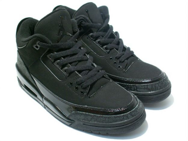 Special Michael Jordan 3 Retro All Black Cat Black Dark Charcoal Black Shoes