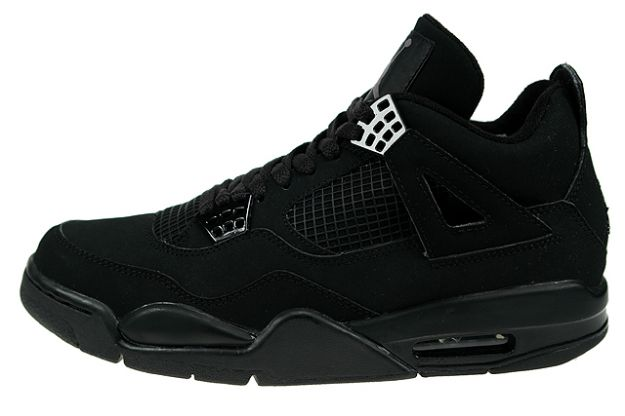 Special Michael Jordan 4 Black Cat Black Black Light Graphite Shoes