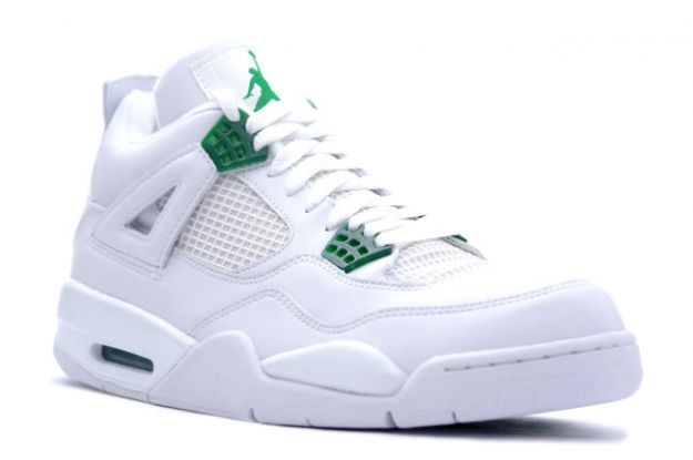 Special Michael Jordan 4 Retro White Chrome Classic Green Shoes
