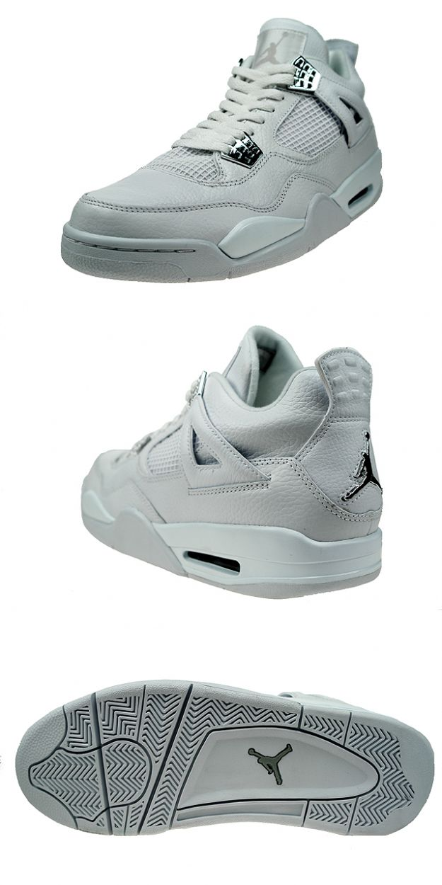 outlet store 16f13 fd5f4 Authentic Speciale Air Jordan 4 Retro Pure money All White ...