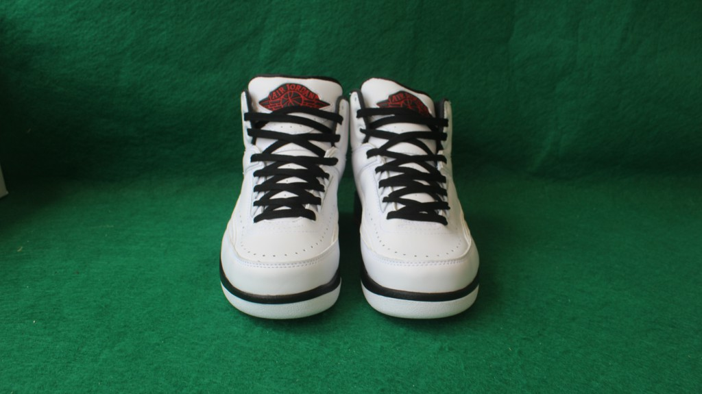 Sup Men Air Jordan 2 Pro Leather White Black Red Shoes