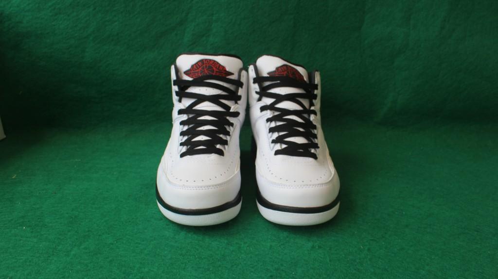 83741e8d396a26 Sup Men Air Jordan 2 Pro Leather White Black Red Shoes