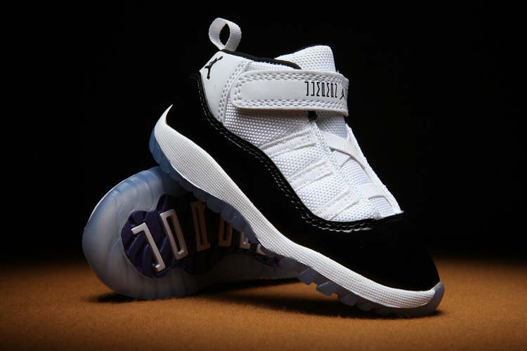 Toddlers Jordan 11 Concard White Black Shoes