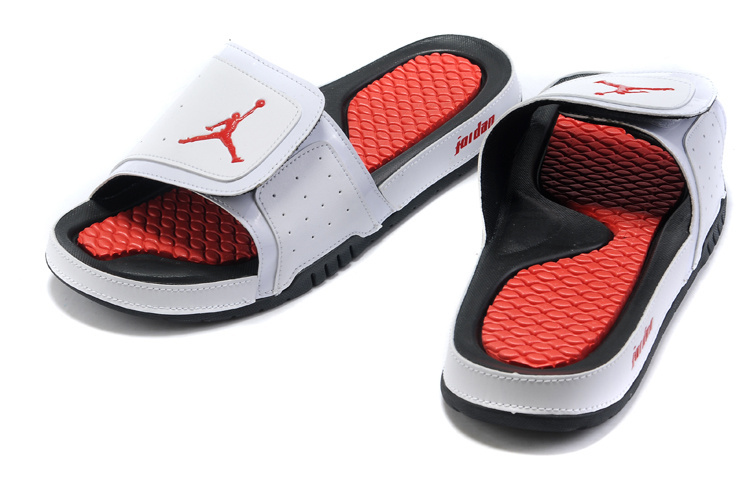 White Red Black Jordan 2 Massage Sandal