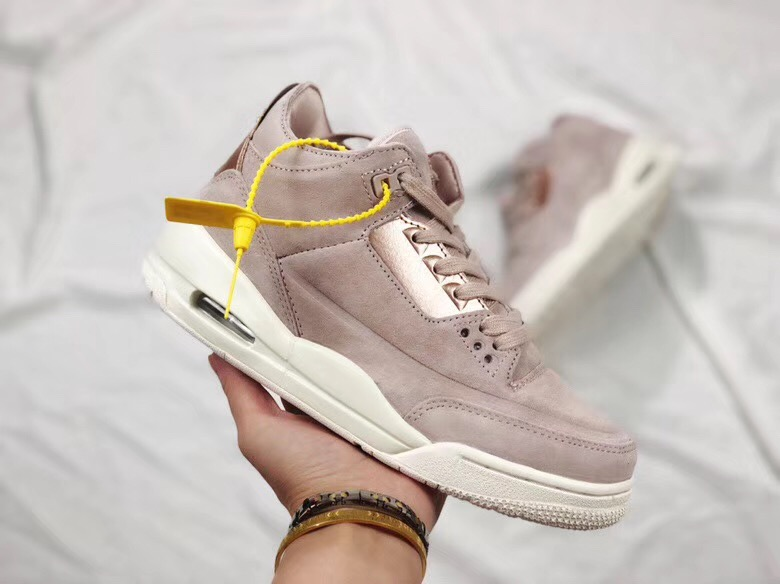 Women Air Jordan 3 Rose Gold Shoes