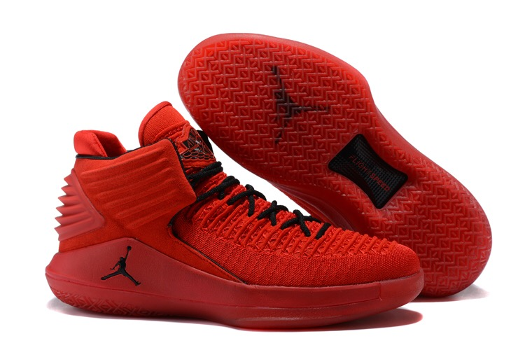 Women Jordan 32 Red Black Shoes