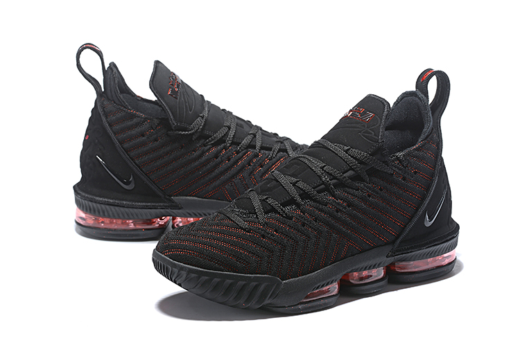 Women Nike LeBron 16 Black Red Basketball Shoes